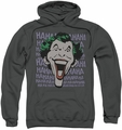 The Joker pull-over hoodie Dastardly Merriment adult charcoal