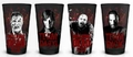 The Walking Dead Daryl Rick Zombie Black Pint Glass 4-pack pre-order