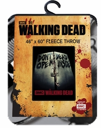 The Walking Dead fleece blanket Don't Open Dead Inside