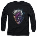 Two Face adult long-sleeved shirt Just Face black
