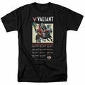 Valiant t-shirt 25 Years (Front mens black