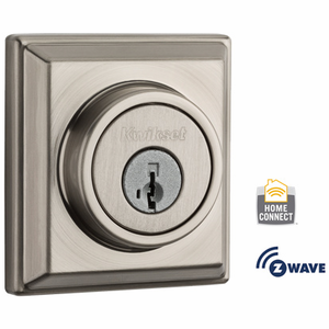 99100-064 - Kwikset Z-Wave SmartCode Wireless Signature-Series Deadbolt (Satin Nickel)