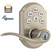 99120-005 - Kwikset Z-Wave SmartCode Wireless Door Lever (Satin Nickel)
