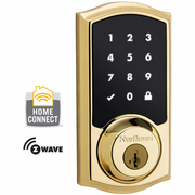 99160-001 - Kwikset Z-Wave Wireless Touchscreen Deadbolt (Polished Brass)