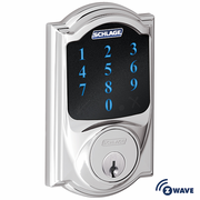 BE468CAM625 - Schlage Z-Wave Camelot Deadbolt (Bright Chrome)