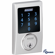 BE468CEN625 - Schlage Z-Wave Century Deadbolt (Bright Chrome)