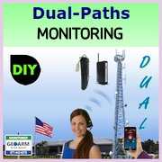Do-It-Yourself Dual Paths Alarm Monitoring