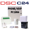 DSC PC1864 PowerSeries VoIP & Phone Line Hybrid Security System