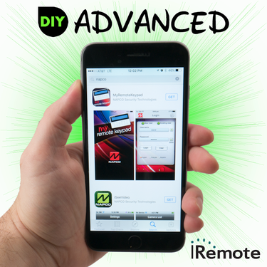 Napco Cellular iRemote Interactive Advanced Level DIY Alarm Monitoring (for AT&T Network)