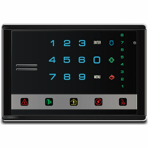 NX-1814E - GE Interlogix NetworX Voice Touchpad Horizontal Black Alarm Keypad (with Intercom)