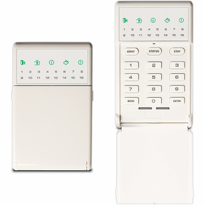 NX-1815E - GE Interlogix NetworX Voice Navigation White Alarm Keypad