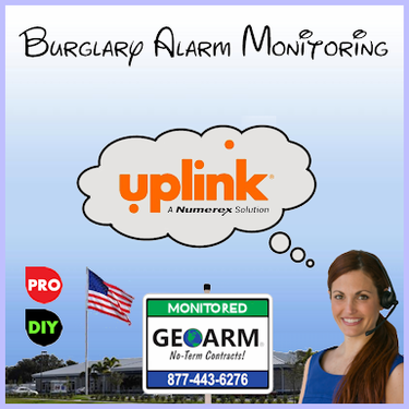 Uplink Burglary Alarm Monitoring Paths