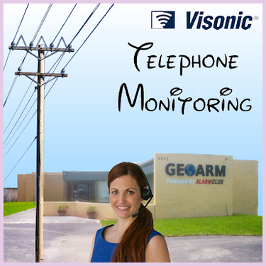 Visonic Phone Line Alarm Monitoring Service