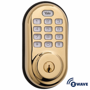 YRD210ZW605 - Yale Z-Wave Push Button Keypad Deadbolt (Brass)