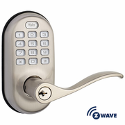 YRL210ZW619 - Yale Z-Wave Push Button Keypad Lever Lock (Satin Nickel)