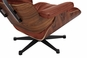 Classic Lounge Chair & Ottoman - Antique Brown Style 4