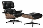 Classic Lounge Chair & Ottoman Black Style 5