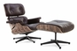 Classic Lounge Chair & Ottoman  Brown Style 5