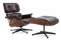 Classic Lounge Chair & Ottoman  Brown Style 1