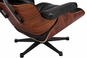 Classic Lounge Chair & Ottoman Black Style 2
