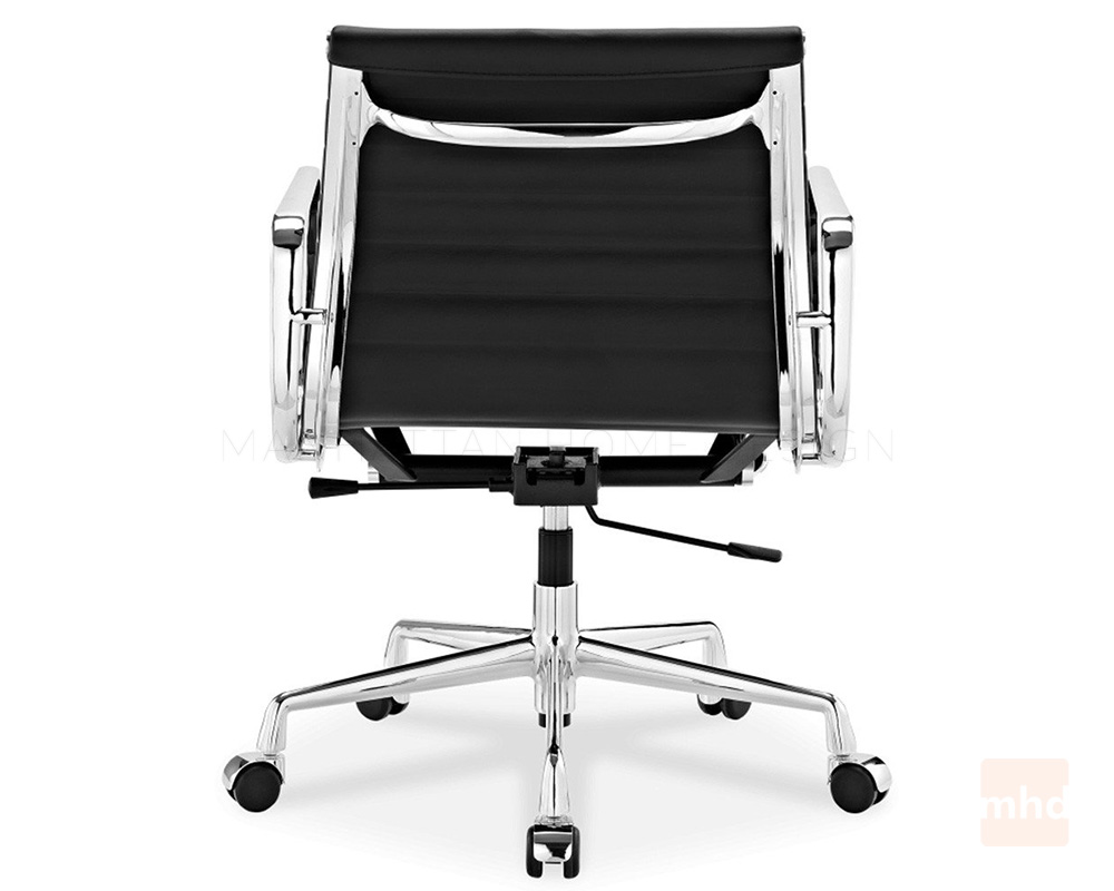 Black and white office chair -  Eames Office Chair Replica Ribbed Management Chair Style 12