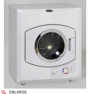 Avanti D1101IS Portable Electric Dryer with 9 lbs. Capacity, Stainless Steel Drum, Can be Mounted on the Wall or on Top of a Washer, 115 Volt, See Thru Window, Multiple Time and Temperature Settings