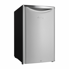 DAR044A6DDB by Danby Classic Compact Refrigerator, Iridium Silver Steel with Reversible Door, Energy Star, 4.4 CF