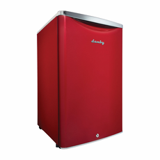 DAR044A6LDB by Danby Classic Compact Refrigerator, Scarlet Red Metallic with Reversible Door, Energy Star, 4.4 CF