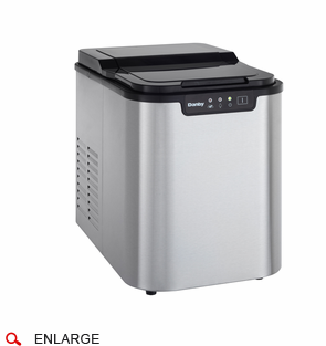 Countertop Ice Maker With Storage : ... Countertop Ice Maker, Stainless Steel with See Thru Lid, Storage of 2