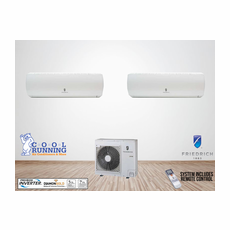 Friedrich 24,000 BTU 2-Zoned Ductless Mini Split System, Standard High Wall, Includes 24,000 BTU Condenser MR24DY3JM, (2) MW12Y3J 12,000 BTU Wall Units with Remotes, Line Sets Sold Separately