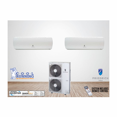 Friedrich 24,000 BTU 2-Zoned Ductless Mini Split System, Standard High Wall, Includes 36,000 BTU Condenser MR36TQ3JM, (2) MW12Y3J 12,000 BTU Wall Units with Remotes, Line Sets Sold Separately in Accessories