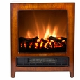 Frigidaire KSF-10301 Kingston Wooden Floor Standing Electric Fireplace Heater, Dual Heat Setting, Built-in Overheat Heat Protection with Auto Shut Off, Completely Portable and Flames Operate With or Without Heat with Brightness Control