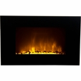 Frigidaire OWF-10303 Oslo Wall Hanging LED Fireplace Heater with Color-Changing Flame Effect, 10 Color Changing Choices, Dual Heat Setting, Built-in Overheat Heat Protection with Auto Shut Off, Completely Portable and Flames Operate With or Without Heat with Brightness Control, Includes Pebbles and Remote Control