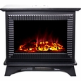 Frigidaire BMSF-10311 Boston Cast Iron Floor Standing Electric Fireplace Heater, Dual Heat Setting, Built-in Overheat Heat Protection with Auto Shut Off, Completely Portable and Flames Operate With or Without Heat with Brightness Control