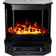 Frigidaire CMSF-10310 Cleveland Floor Standing Electric Fireplace Heater, Dual Heat Setting, Built-in Overheat Heat Protection with Auto Shut Off, Completely Portable and Flames Operate With or Without Heat with Brightness Control