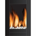 Frigidaire MWF-10304 Monaco Vertical Wall Hanging LED Fireplace Heater, Dual Heat Setting, Built-in Overheat Heat Protection with Auto Shut Off, Completely Portable and Flames Operate With or Without Heat with Brightness Control, Includes Pebbles and Remote Control
