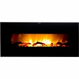 Frigidaire VWWF-10306 Valencia Wide Screen Wall Hanging Electric Fireplace Heater with Heat Resistant Tempered Glass Panel, Dual Heat Setting, Built-in Overheat Heat Protection with Auto Shut Off, Completely Portable and Flames Operate With or Without Heat with Brightness Control, Includes Remote Control