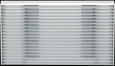 GE RAG14E Through Wall Louvered Architectural Aluminum Grille, Clear for GE Built-in Series