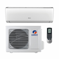 GREE LIVS18HP230V1A Livo Single Zone Ductless Mini Split System with Inverter Heat Pump, 18,000 BTU, 230/208 Volt, 16.0 SEER, Includes Indoor Wall Unit with Remote and Outdoor Condenser