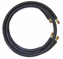 """JMF LS1458FF25W Ductless Mini Split Line Set, 1/4"""" x 5/8"""" x 25' Long with Flare Fittings and 14-4 600V Wire"""