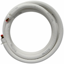"JMF LS1438FF50W-WHITE Ductless Mini Split Line Set with EZ-Pull Lining, 1/4"" x 3/8"" x 50' Long with Flare Fittings and 14-4 600V Wire"
