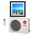LG LA090HVP 9,000 BTU 16.0 SEER 230/208 Volt Ductless Mini Split System with Inverter Heat Pump, Art Cool Gallery, Includes LAN090HVP Indoor Wall Unit, LAU090HVP Outdoor Condenser and Remote Control