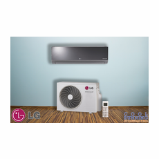 LG LA120HSV2 Single Zone Ductless Mini Split with Inverter Heat Pump, Art Cool Mirror, 11,200 BTU, 230/208 Volt, 20.0 SEER, Includes Indoor Unit LAN120HSV2 with Remote and Outdoor Condenser LAU120HSV2