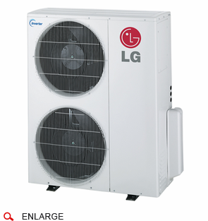 LG LMU369HV 36,000 BTU Outdoor Condenser with Heat Pump and Advanced Inverter Technology, Energy Star Rated, De-Frosting De-Icing Capabilities, Self Diagnosis, Auto Restart and Operates down to 14 Degrees Fahrenheit