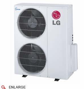 LG LMU36CHV 36,000 BTU Outdoor Condenser with Heat Pump and Advanced Inverter Technology, Energy Star Rated, De-Frosting De-Icing Capabilities, Self Diagnosis, Auto Restart and Operates down to -4 Degrees Fahrenheit