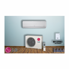 LG LS091HSV4 Single Zone Ductless Mini Split with Inverter Heat Pump, Standard High Wall, 9,000 BTU, 230/208 Volt, 21.5 SEER, Includes Indoor Unit LSN091HSV4 with Remote and Outdoor Condenser LSU091HSV4