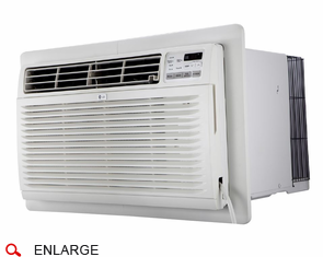 LG LT1235HNR Through the Wall Air Conditioner with Electric Heat, 11,500 BTU, 230/208 Volt, EER Rating of 9.8, Digital Controls with Remote Control, Wall Sleeves Needed for New Installations Sold Separately