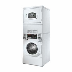 Speed Queen STGBCFSP Commercial Stacked Front Load Washer and Gas Dryer, Independent Controls for Each Unit, Multi Cycles for Washing and Drying, High Speed Extract 1,000 RPM, Stainless Steel Washtub, Coin Drop Included, Coin Box and Door Lock are Not Included (Item# CK042-2 Needed)
