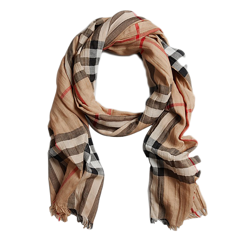 authentic burberry lightweight wool and silk scarf