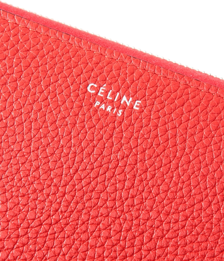 Authentic Celine Calfskin Large Zipped Multifunction Wallet ...